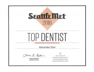 Seattle Top Dentist in 2016 Dr Shor